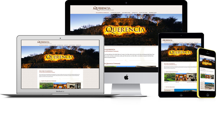 Querencia Desktop & Mobile Website
